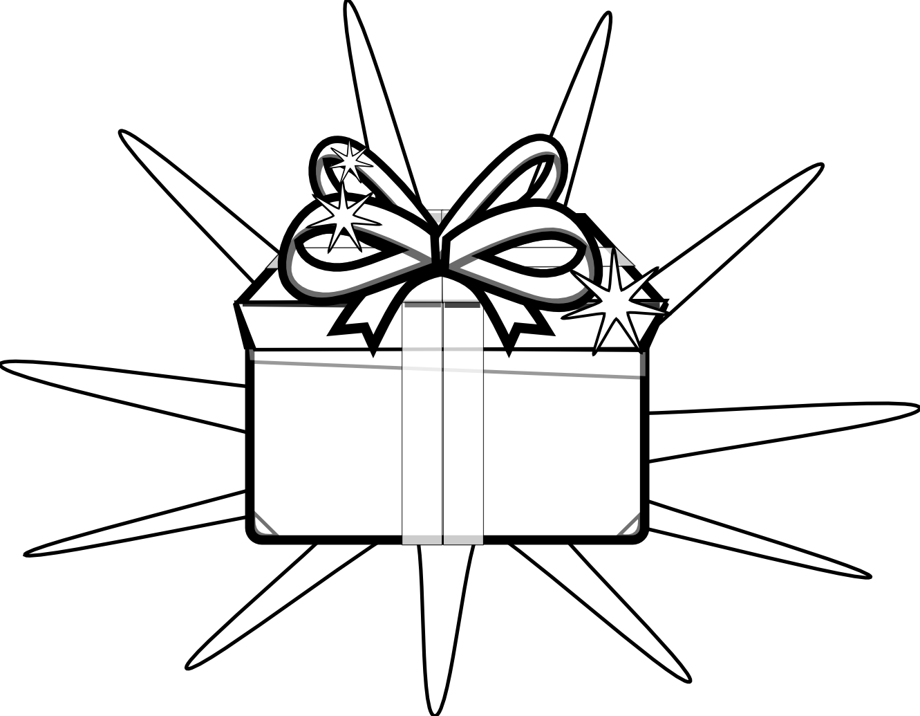 Outline clipart gift. Tag black and white