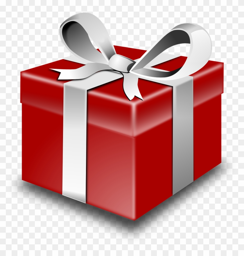 Clipart present wrapped present. Gifts red box container