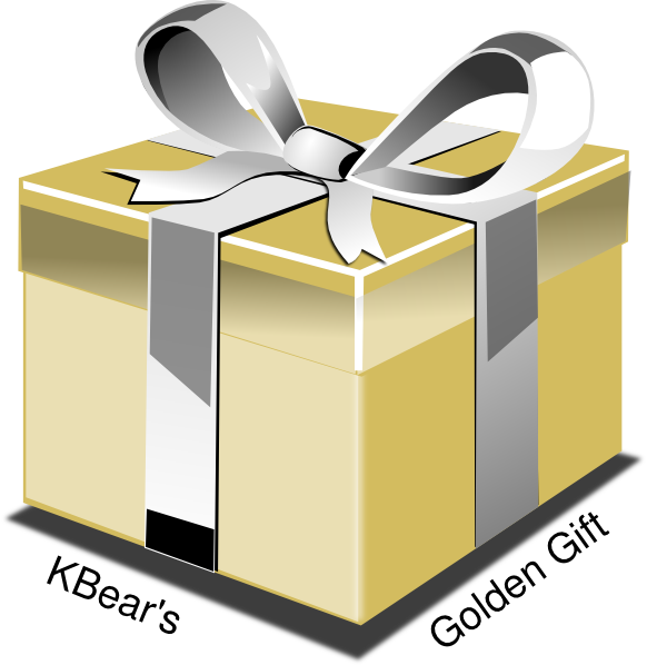Golden clip art at. Gift clipart yellow
