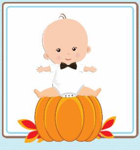 Shower napkins zazzle . Pumpkin clipart baby boy