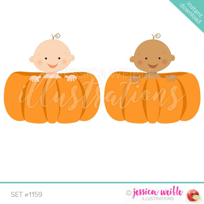 Pumpkin clipart baby boy. In a