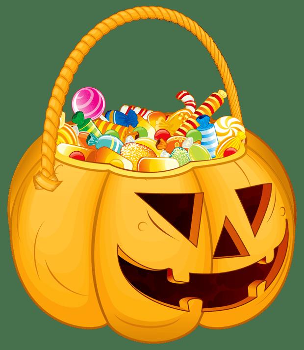 Halloween candy photo . Clipart pumpkin bag