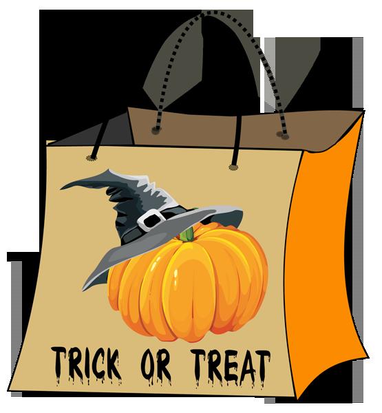 collection of halloween. Clipart pumpkin bag