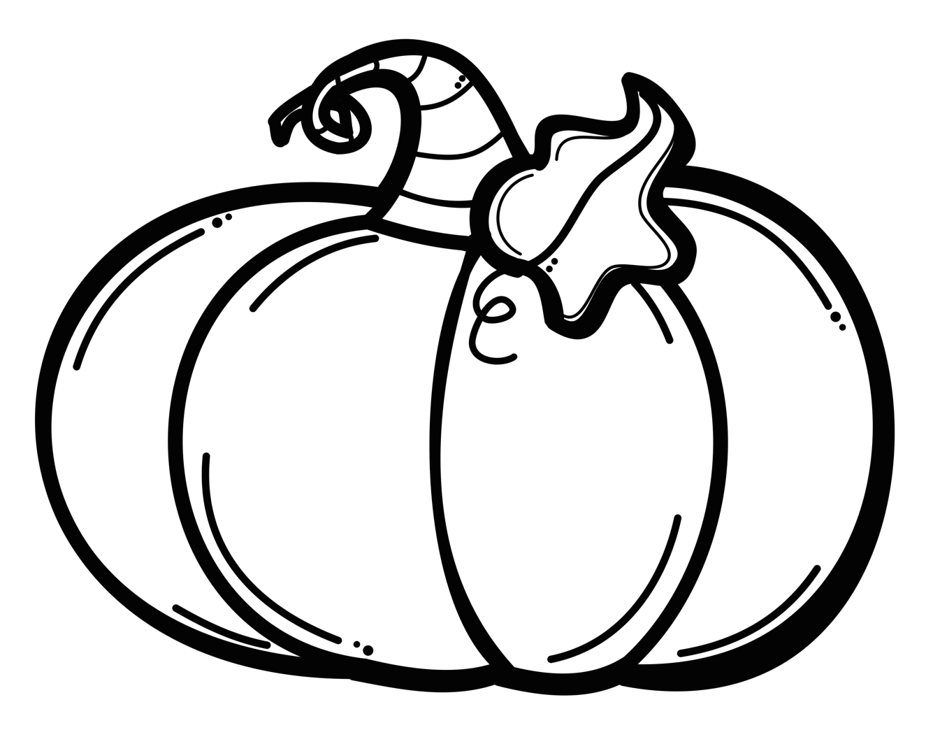 Best Pumpkin Clipart Black And White #1586 - Clipartion.com |Cartoon Black And White Pumkin