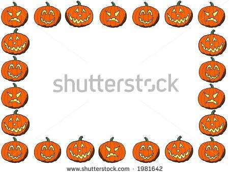 Pumpkin clipart border. Panda free images