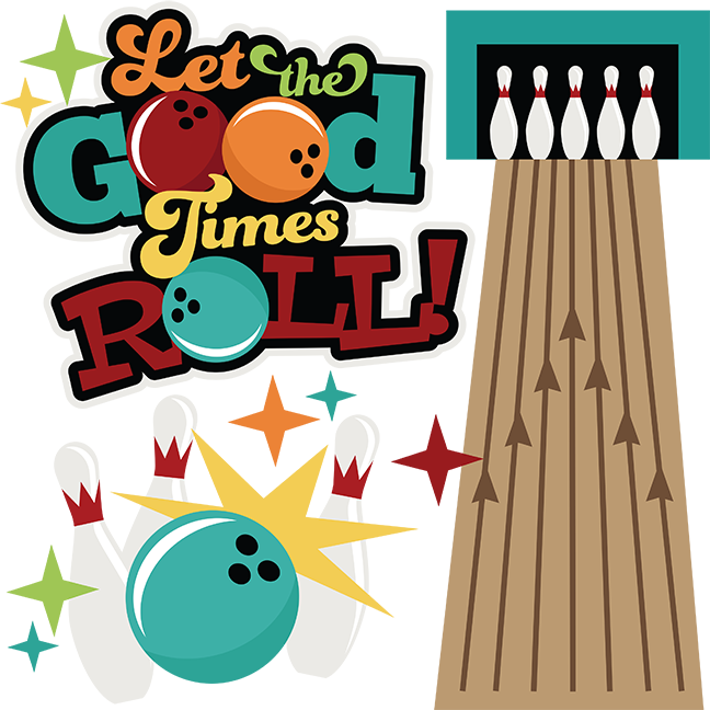 Let the good times. Pumpkin clipart bowling