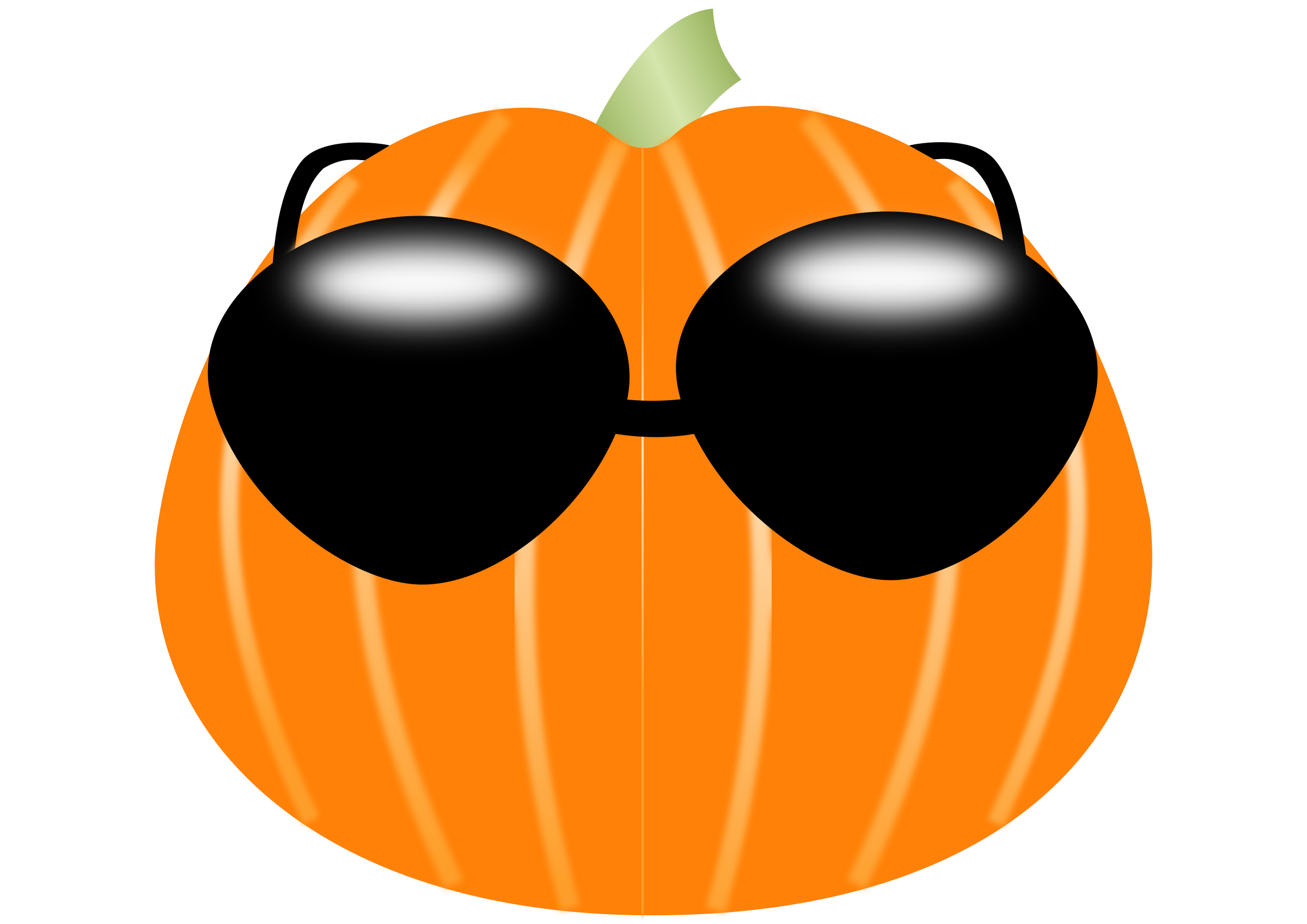 Sunglasses clipart cartoon. Pumpkin wearing