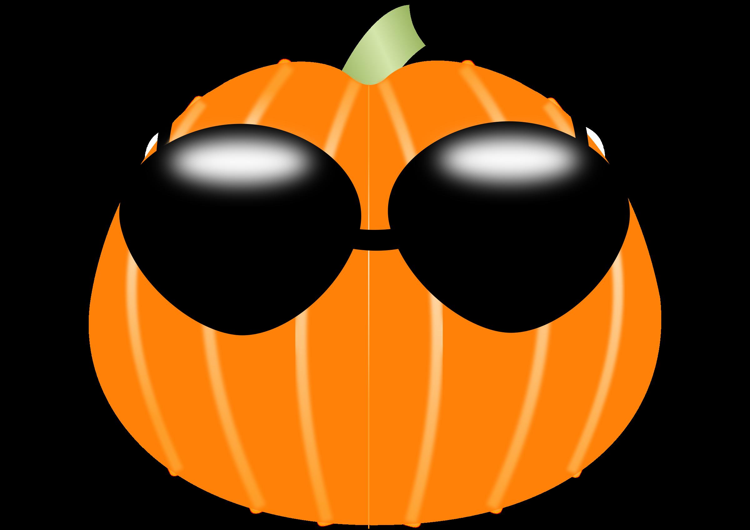 Pumpkin clipart sign. Wearing sunglasses