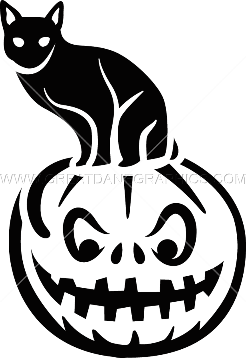 Pumpkin clipart cat. Black on production ready