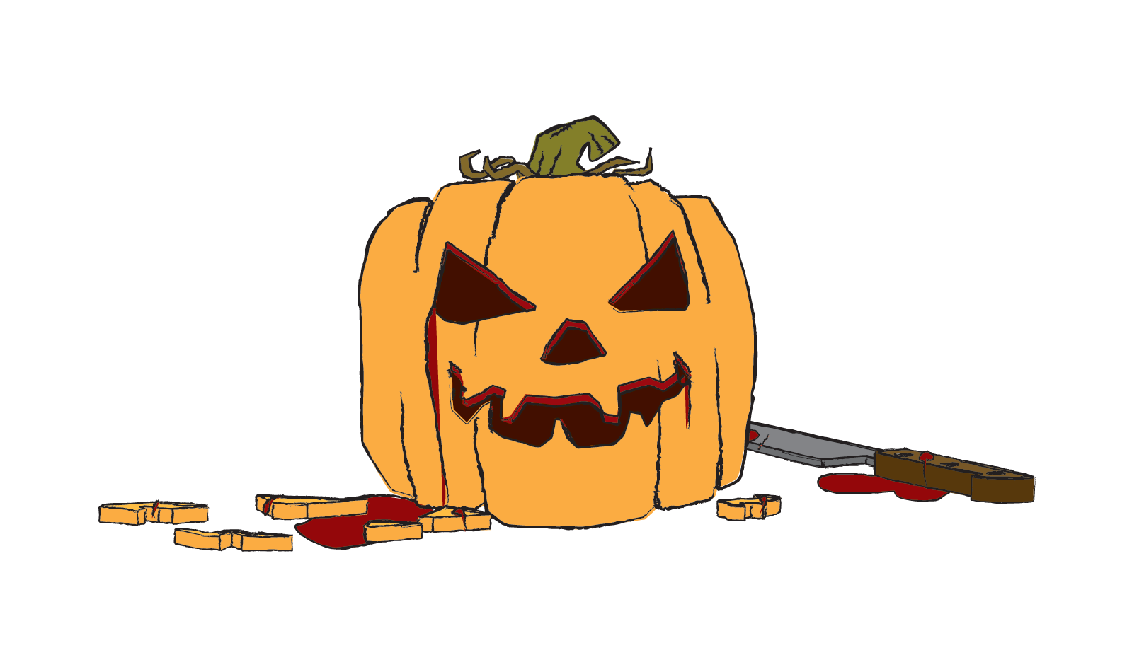 Clipart pumpkin character. Carved transparent background free