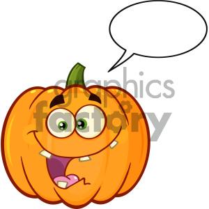 Clipart pumpkin character. Crazy orange vegetables cartoon