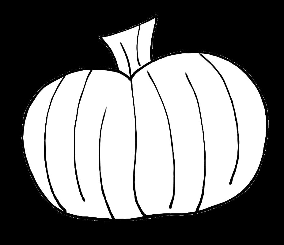 Tall outline clip art. Pumpkin clipart black and white
