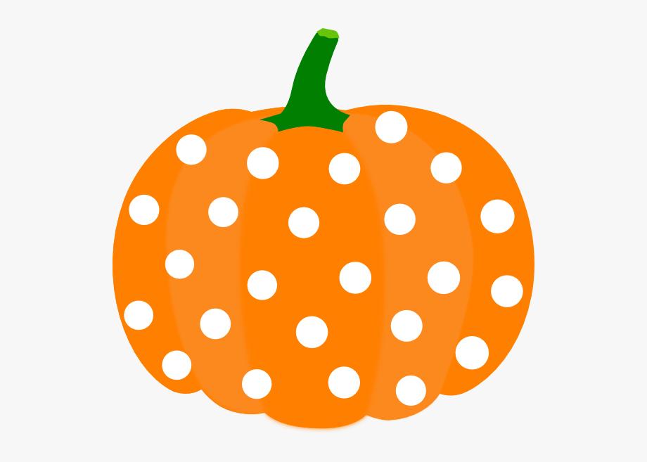 Polka dot clip art. Pumpkin clipart cute