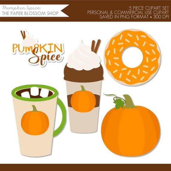 Pumpkin clipart donut. Spice coffee latte