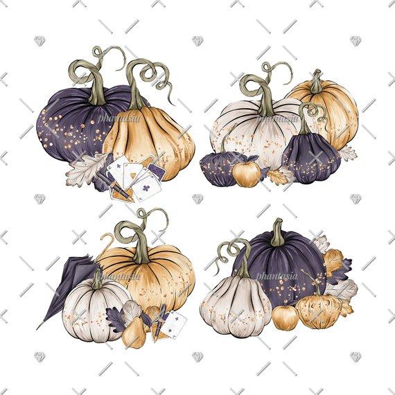 Pumpkin clipart elegant. Fancy pumpkins cliparts gold