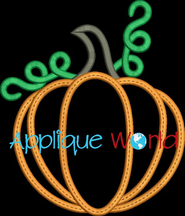 Pumpkin clipart elegant. Applique embroidery quick view
