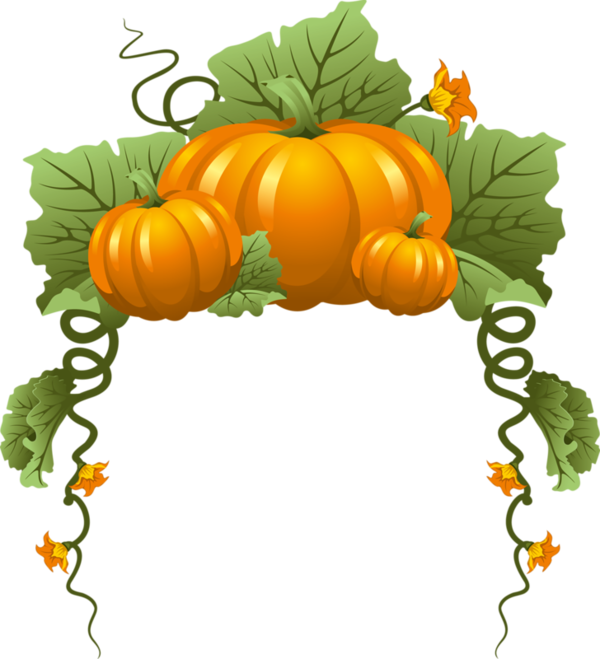 Tubes automne ecrire un. Fall leaves and pumpkins border png