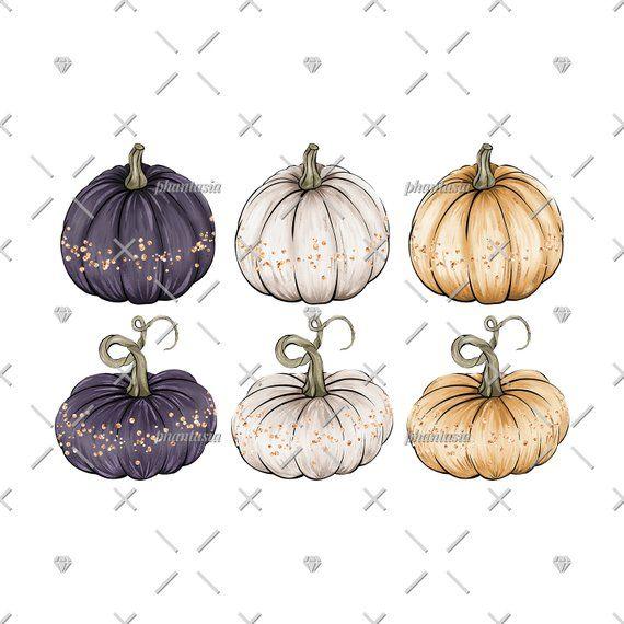 Fancy pumpkins cliparts gold. Pumpkin clipart elegant