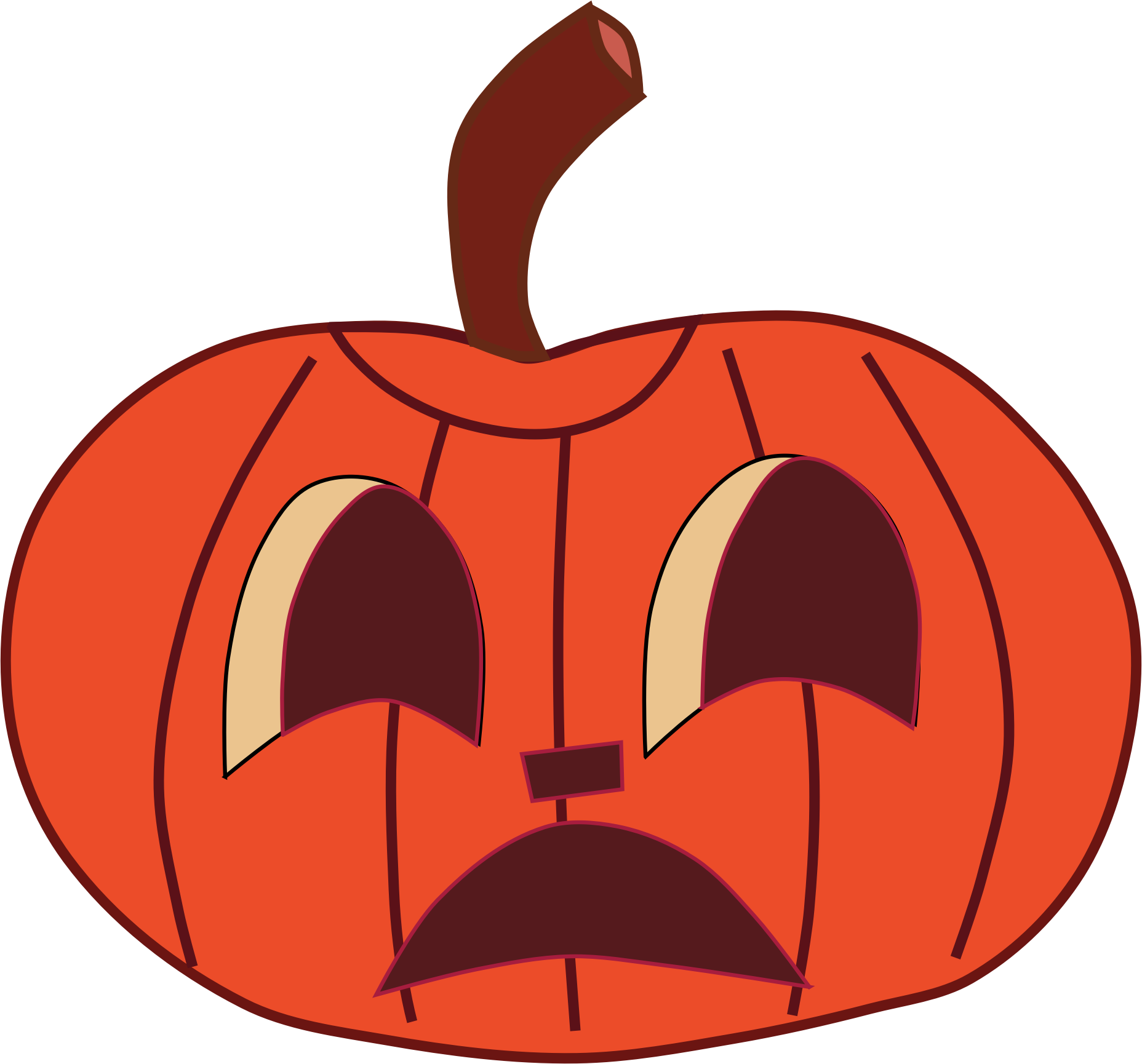Halloween faces clip art. Mouth clipart pumpkin