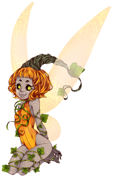 Cps by deathatsunrise on. Pumpkin clipart fairy