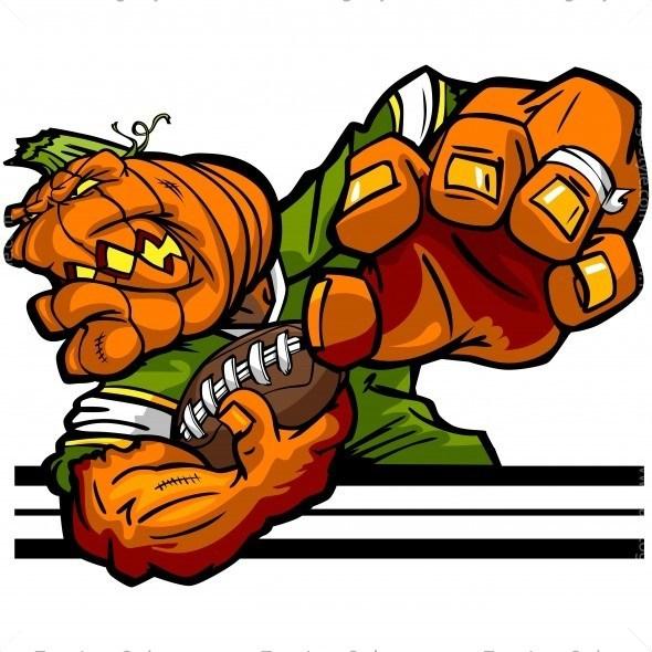 Logo vector halloween . Pumpkin clipart football