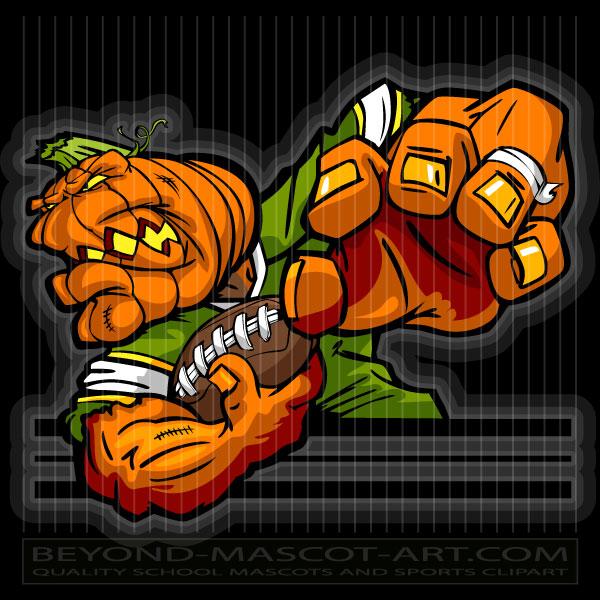 Pumpkin clipart football. Head clip art