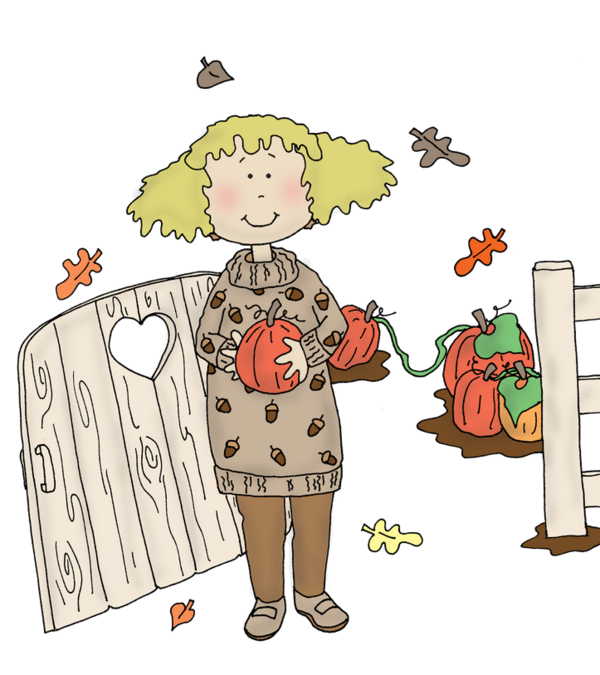 Personnages illustration individu personne. Clipart pumpkin garden