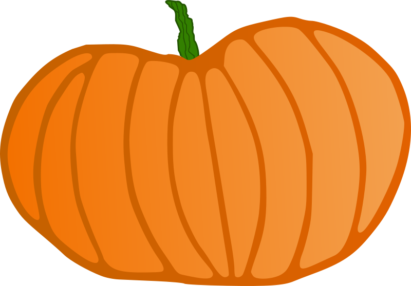 Pumpkin clipart curly. Large