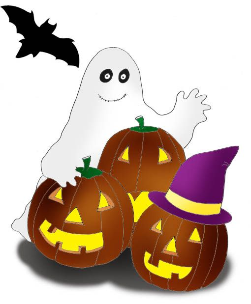 Pumpkin clipart ghost. And pumpkins for halloween