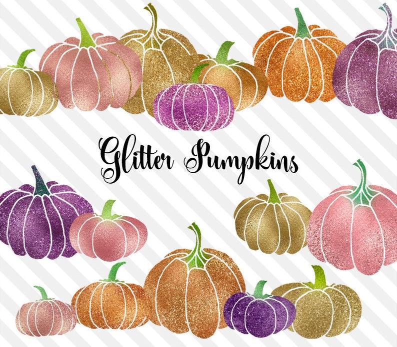 Pumpkin clipart gold glitter. Foil halloween clip art