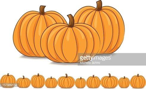 Pumpkin clipart group. And row of pumpkins