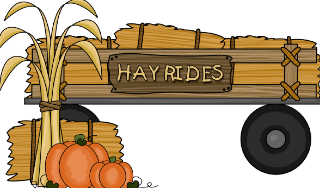 pumpkin clipart hayride