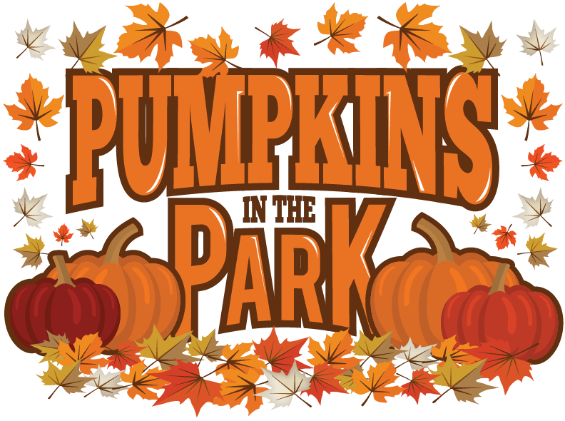 Pumpkins in the park. Pumpkin clipart hayride