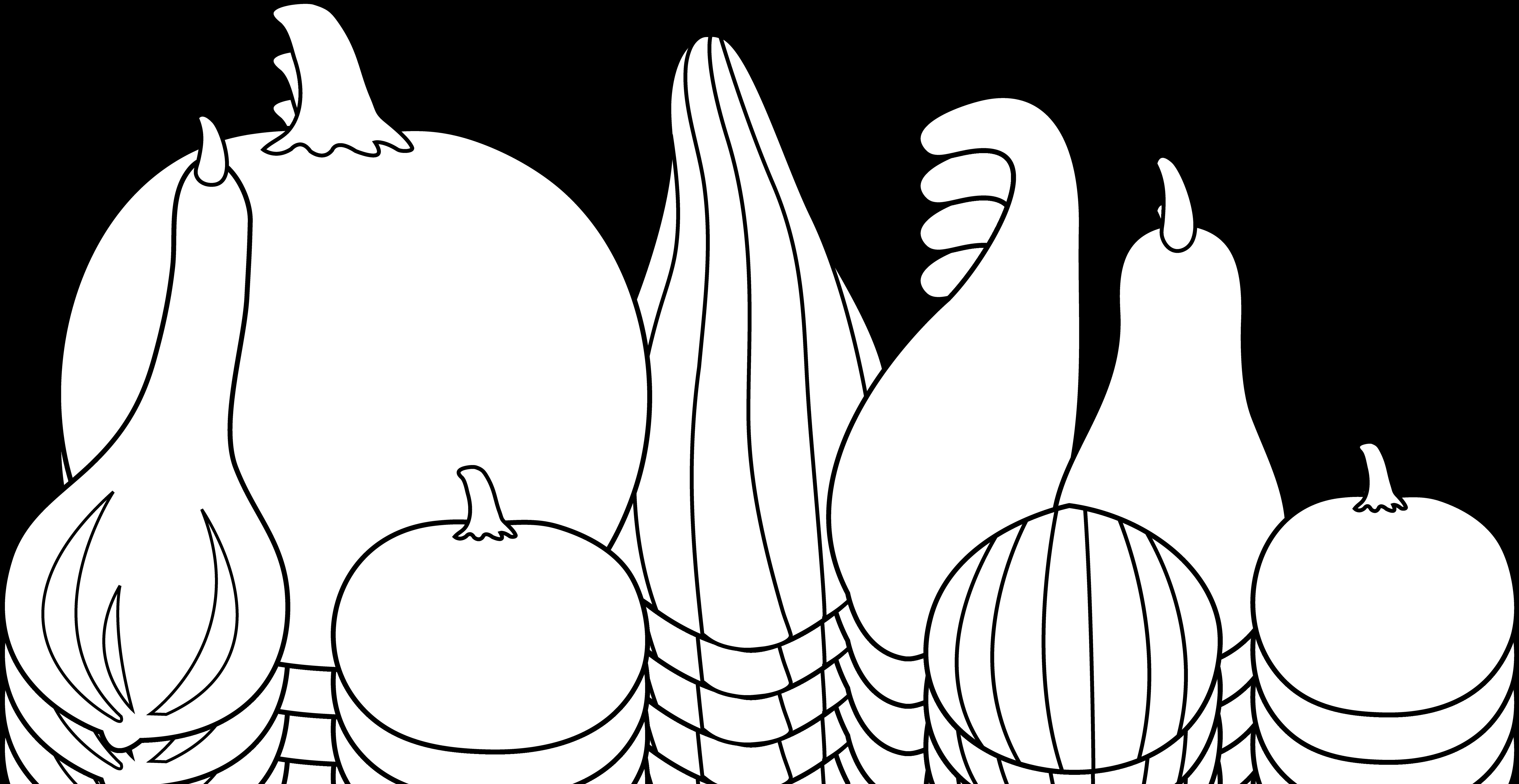 Thanksgiving gourds art free. Clipart pumpkin line