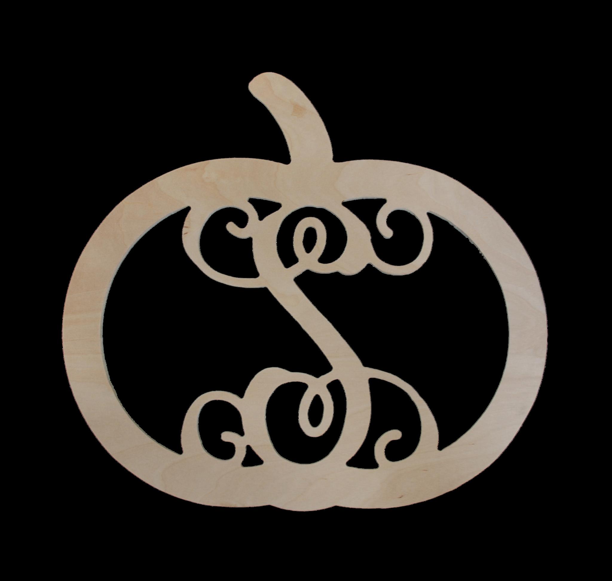 Clipart turkey monogram. Pumpkin wood wooden and