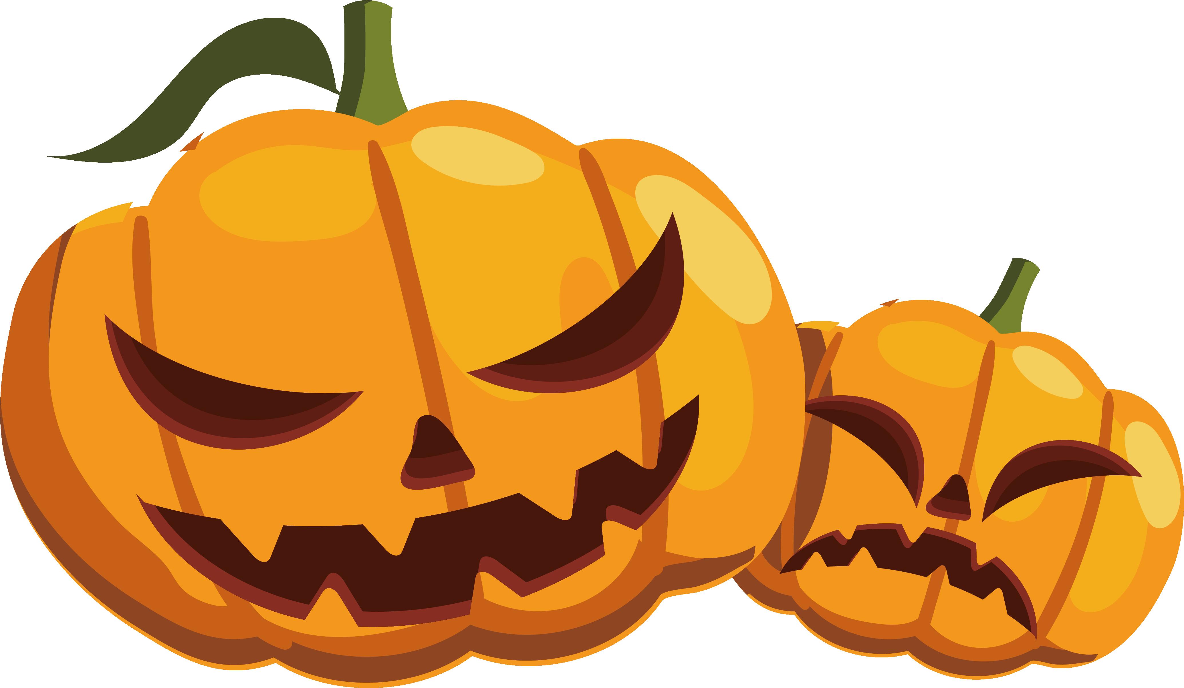 Calabaza halloween transprent png. Clipart pumpkin monster
