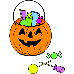 Candy cliparts of . Clipart pumpkin pail