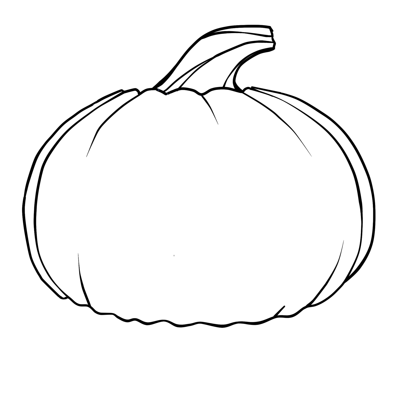 Free outline of a. Pumpkin clipart drawing