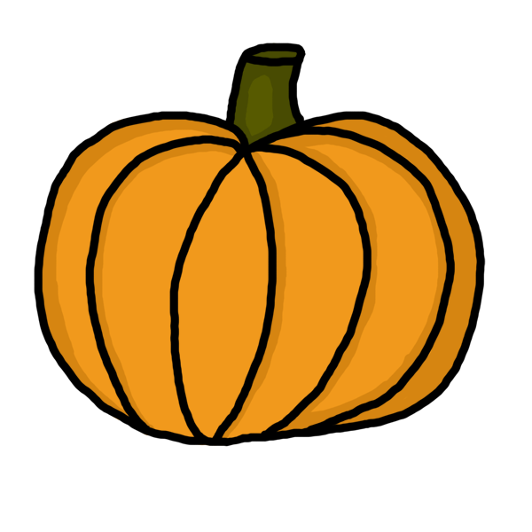 collection of stem. Pumpkin clipart solid