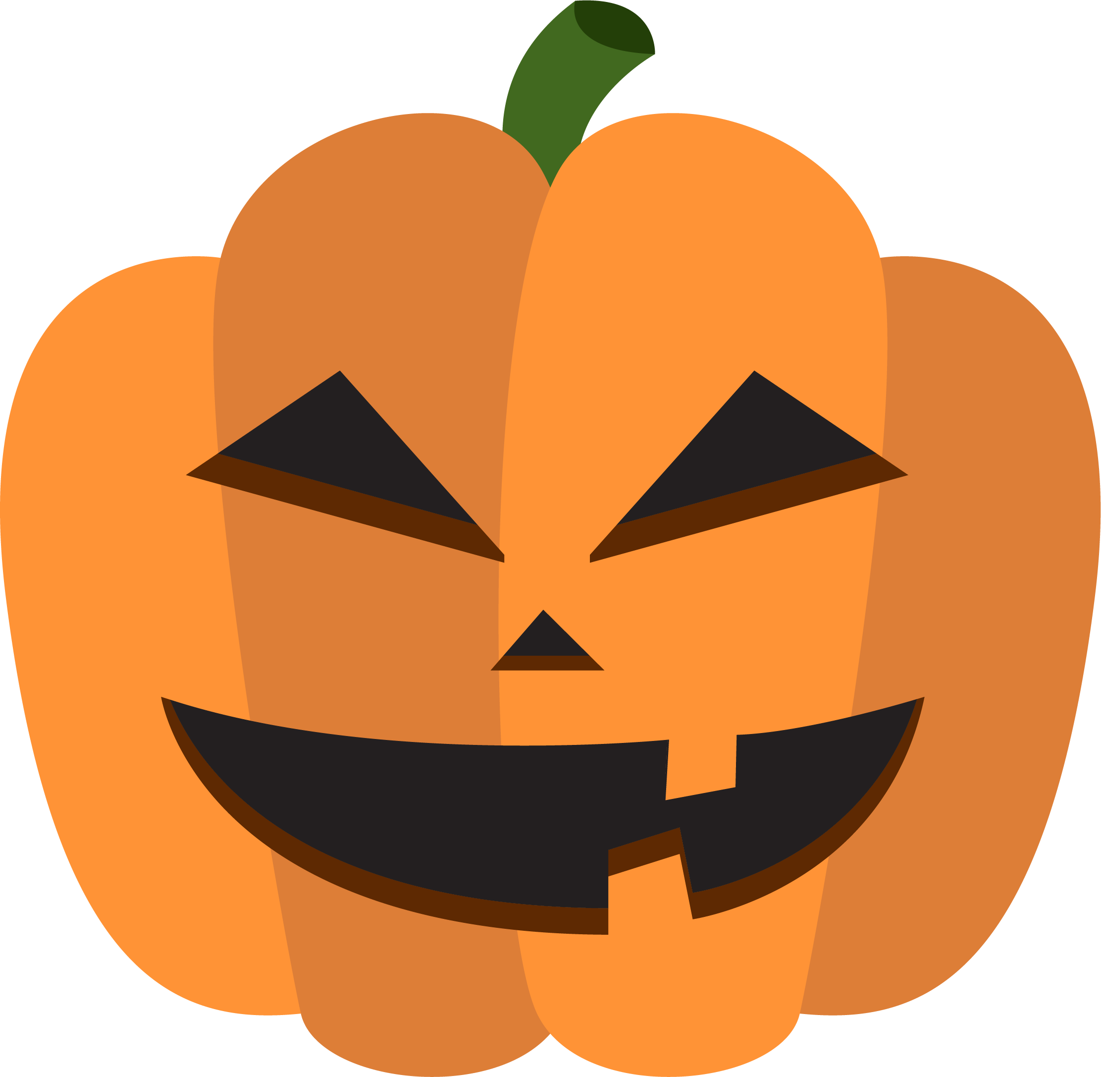 Clipart pumpkin pumpkin decorating. Calabaza halloween decoration cartoon