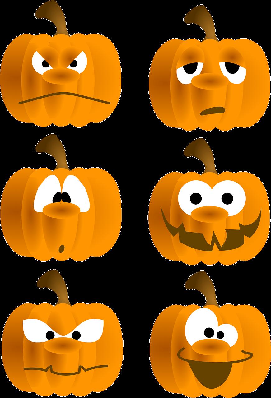 clipart pumpkin row