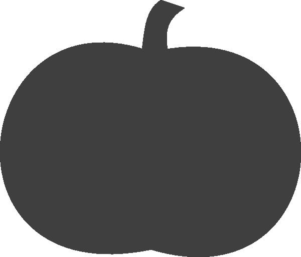 Gray clip art at. Pumpkin clipart solid