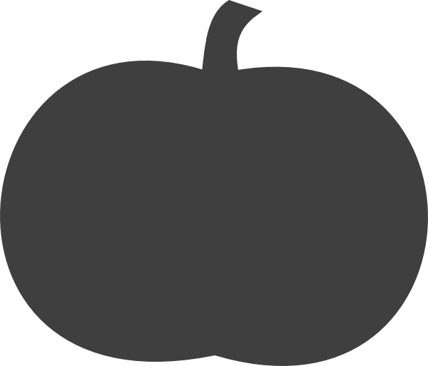 Tree clipart pumpkin. Gray clip art at