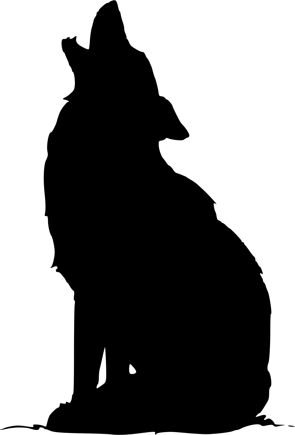 Tired clipart wolf. Silhouette vinyl decal pinterest