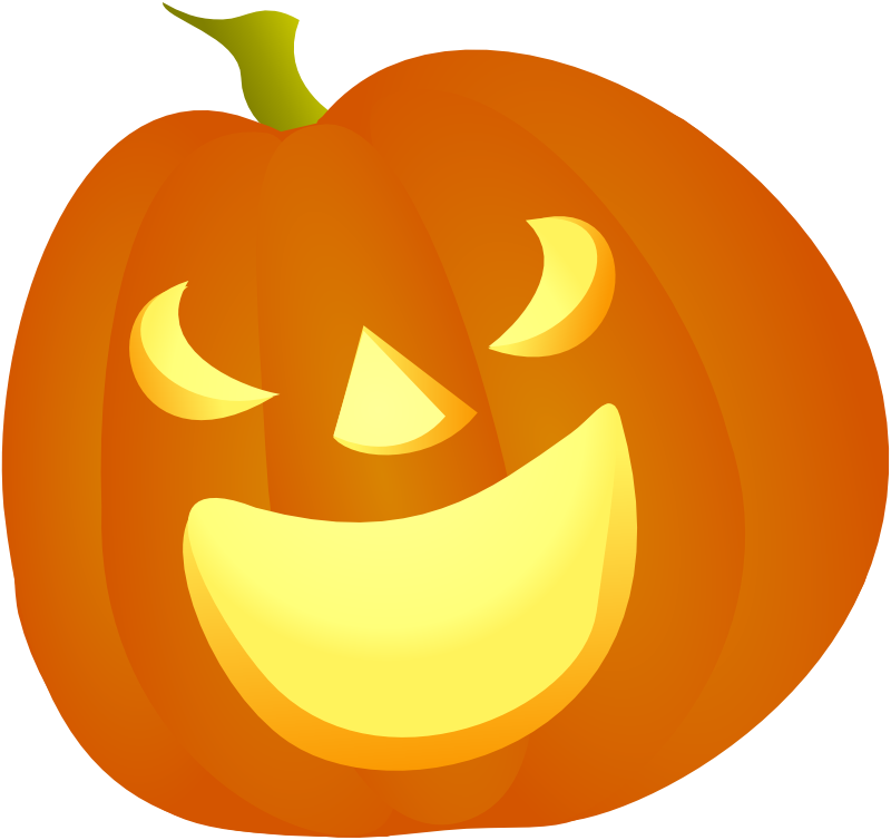 Halloween d png simple. Pumpkin clipart basic