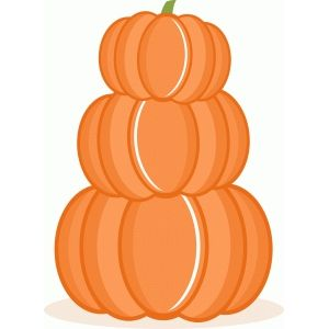Image of design fall. Clipart pumpkin stack