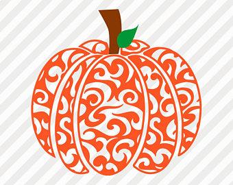 Clipart pumpkin swirl.