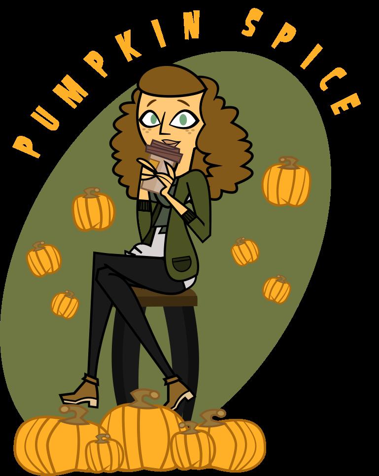 White girl spice latte. Clipart pumpkin swirl