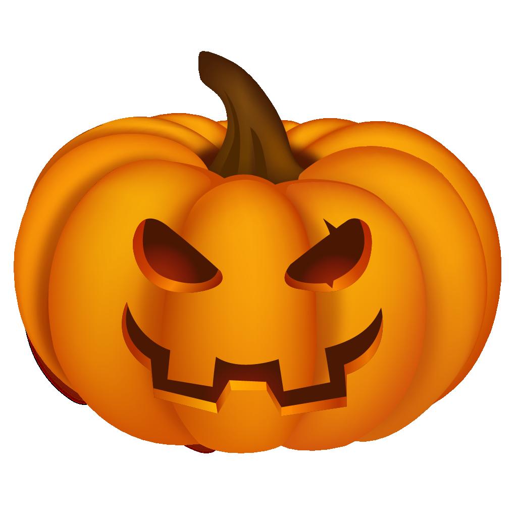 Halloween png d . Clipart smile pumpkin