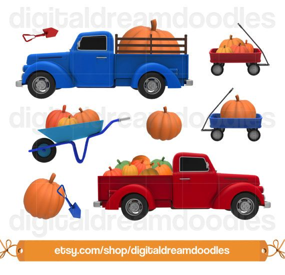 Pumpkin clipart wagon. Patch truck clip art